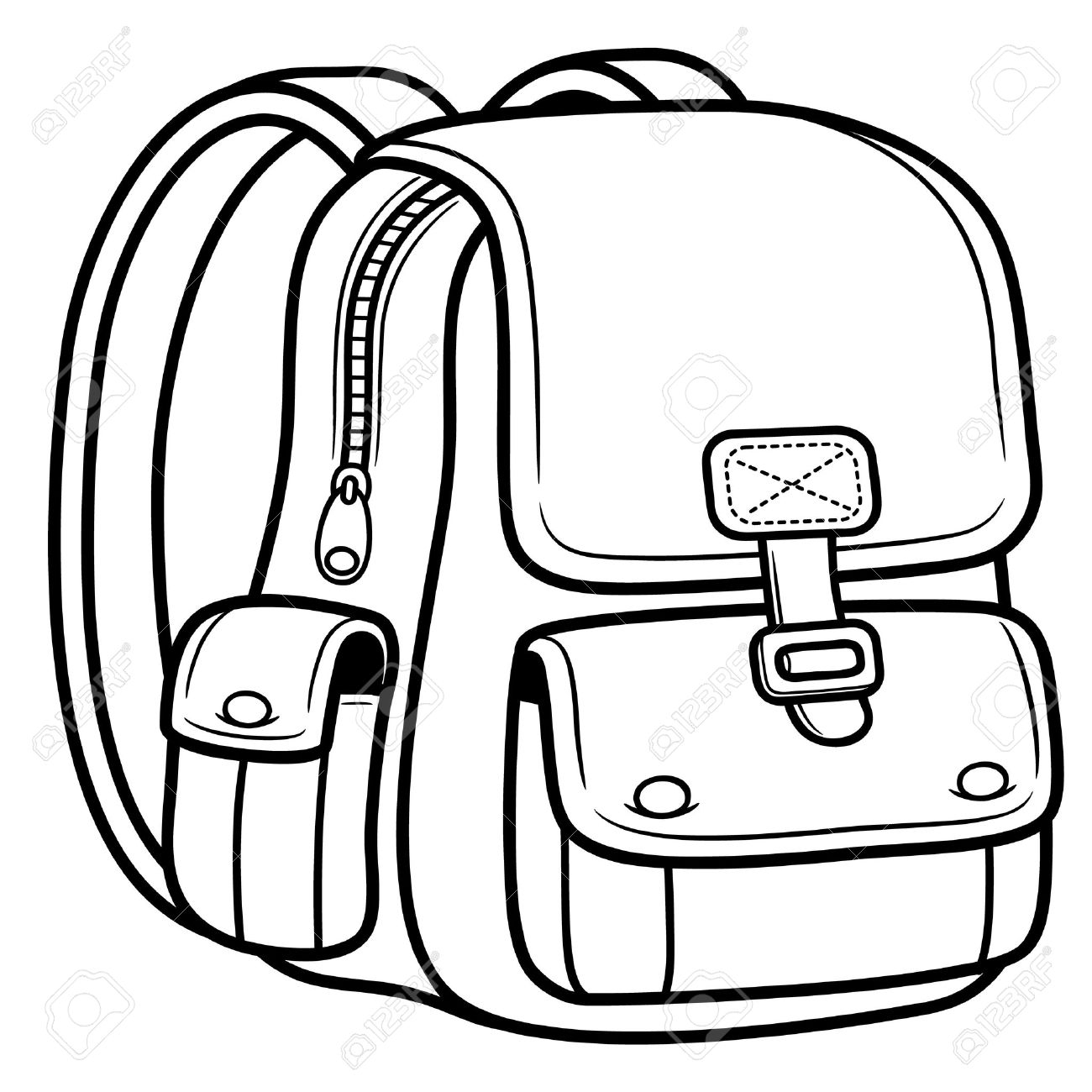 School bag clipart black and white 3 » Clipart Station.