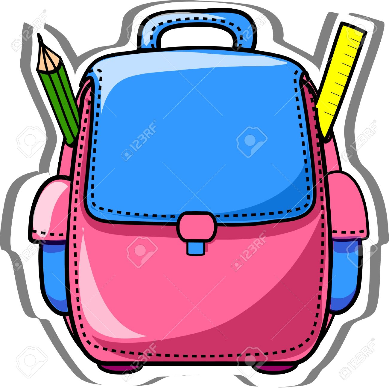 School bags clipart 5 » Clipart Station.