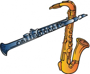 School Band Instrument Clipart.