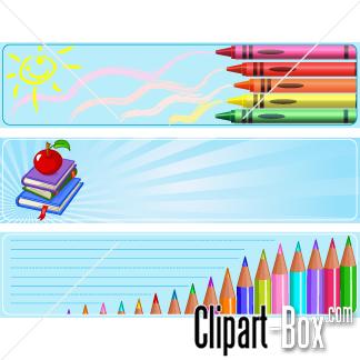 CLIPART SCHOOL BANNERS.