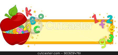 School Banner stock vector.