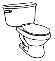 Free Toilet Clipart Black And White, Download Free Clip Art.