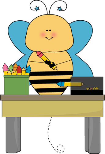 Bee clip art school.
