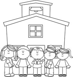 School black and white clipart 2 » Clipart Station.