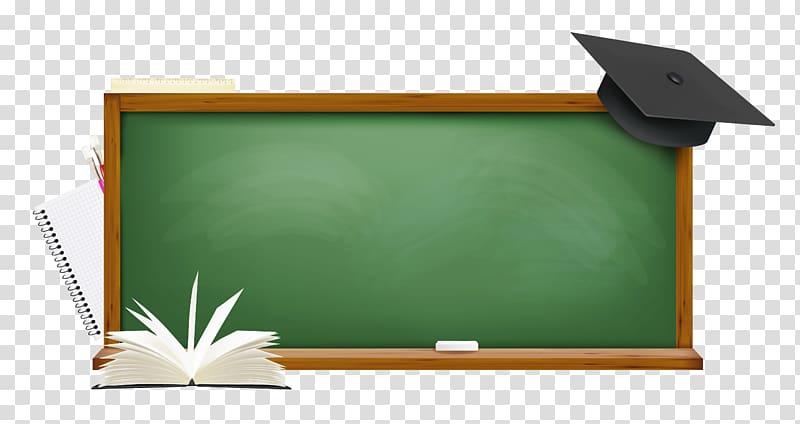 Chalkboard with mortar board illustration, Board of.