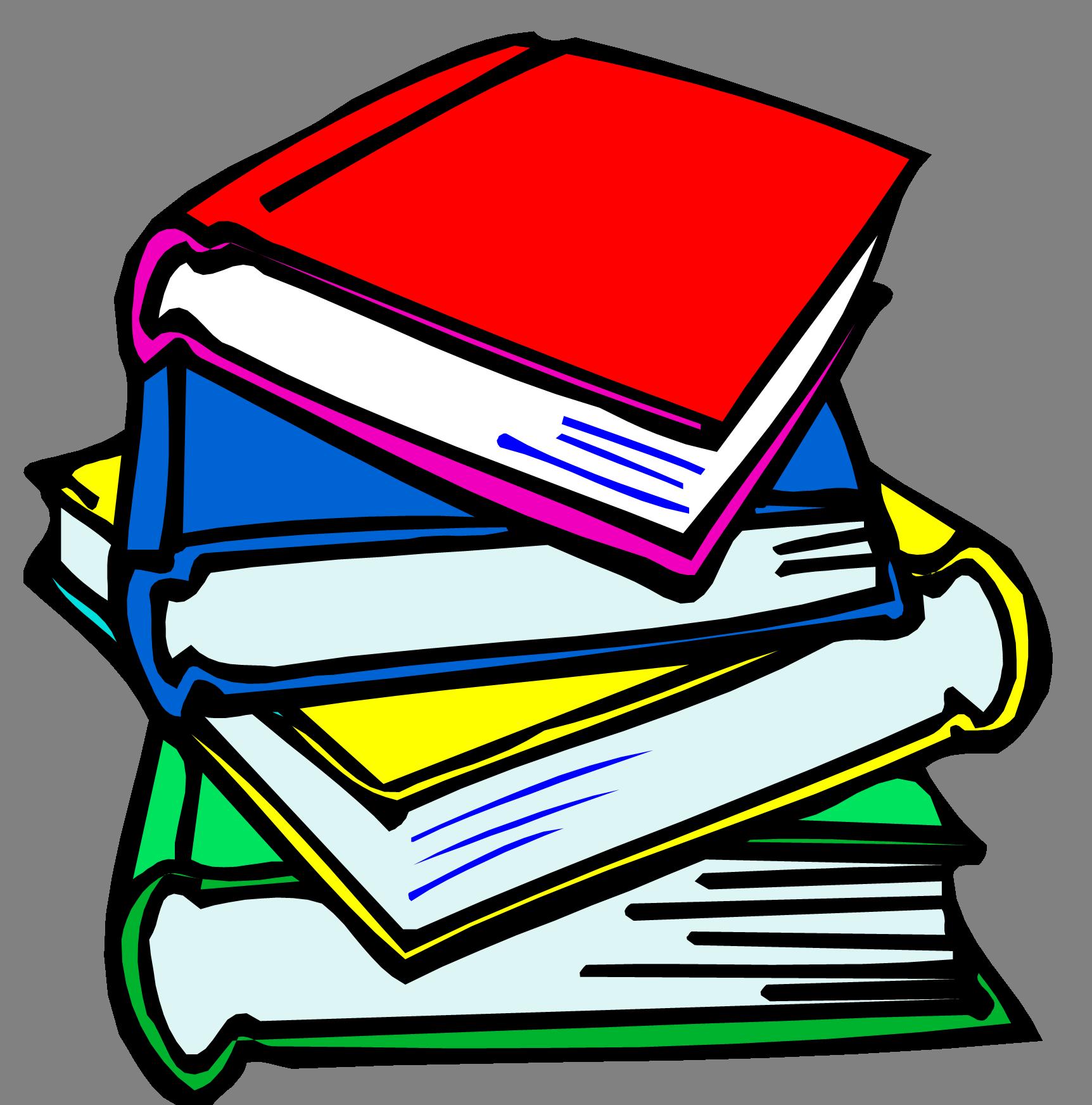 92+ School Books Clipart.