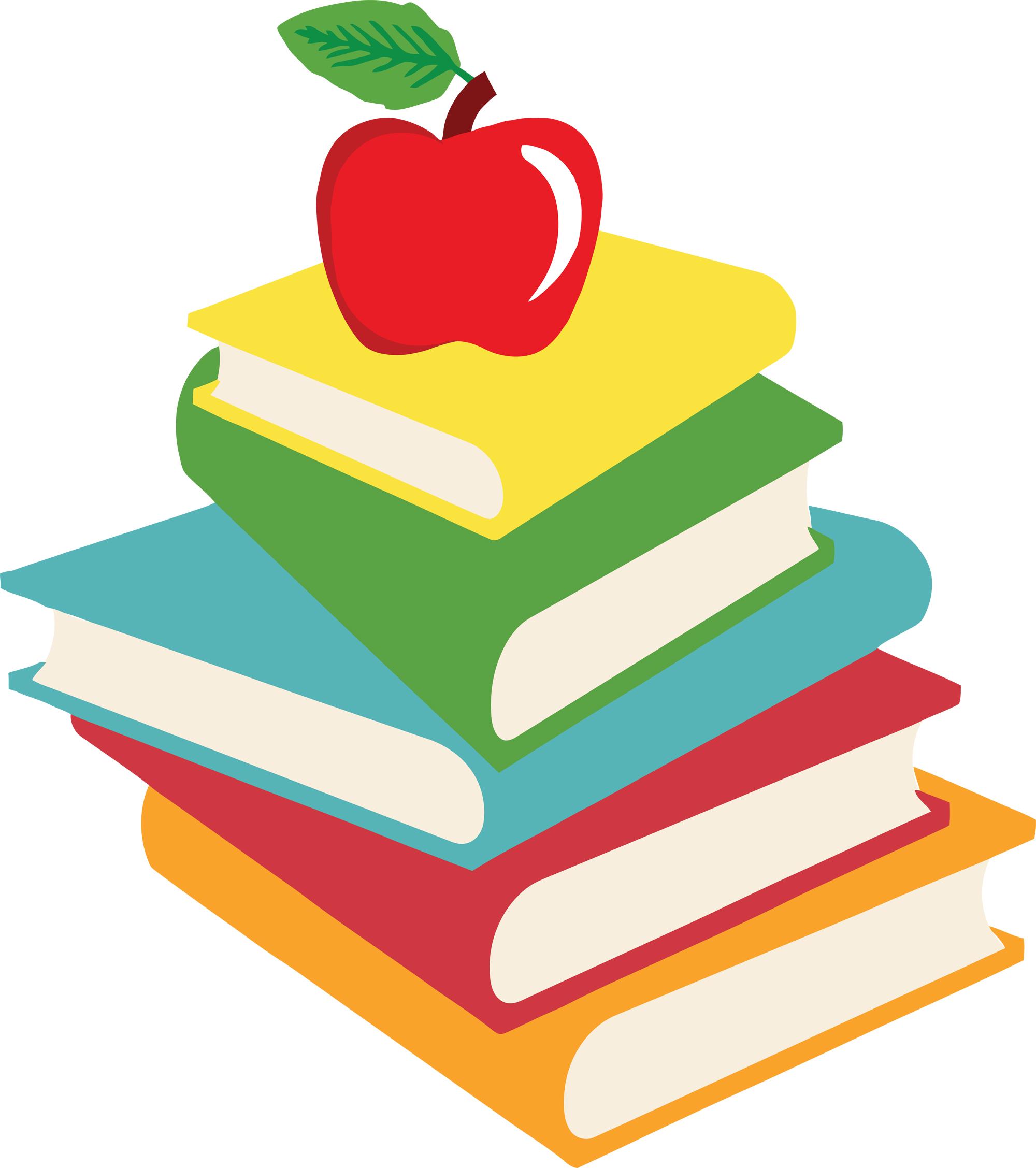 99+ School Books Clipart.