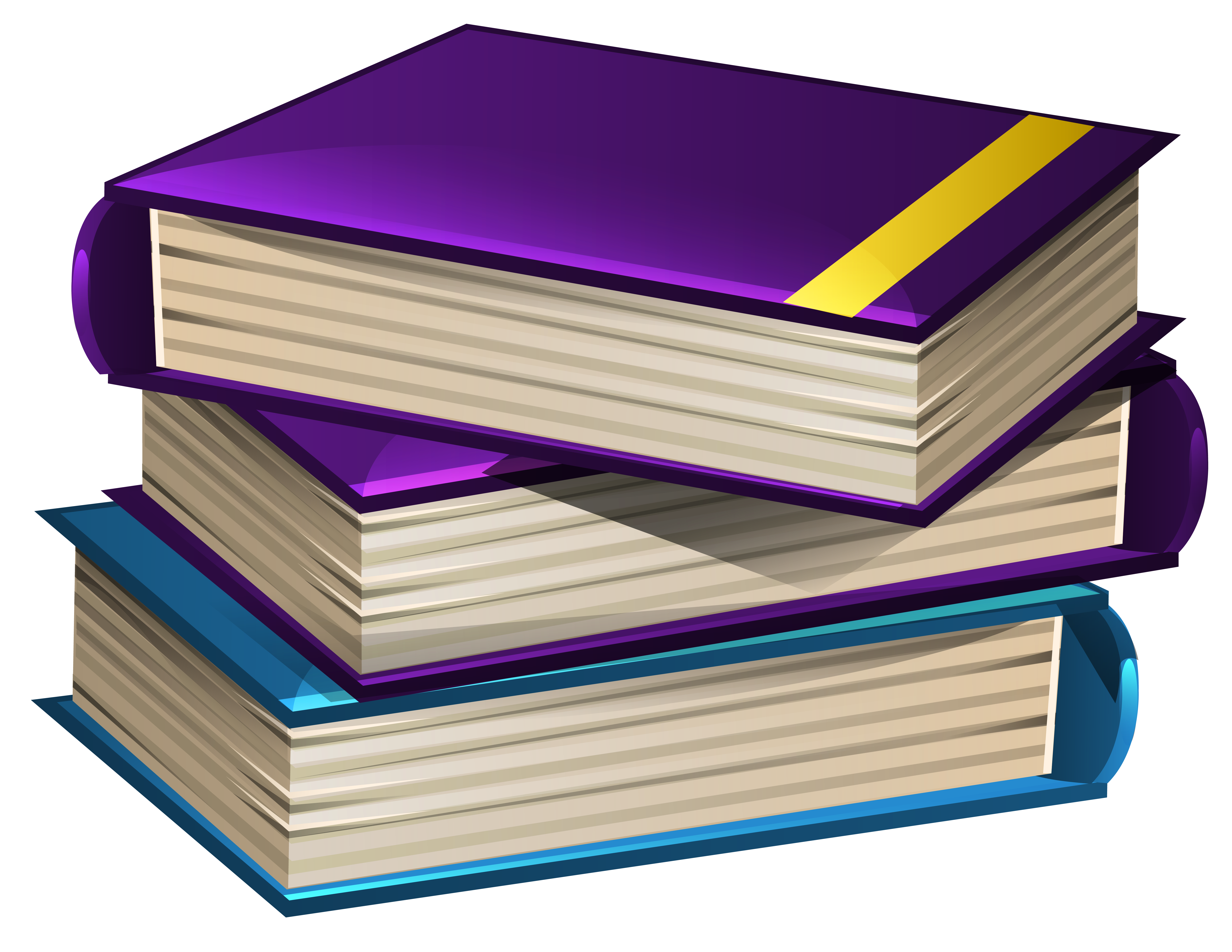 School Books PNG Clipart Image.