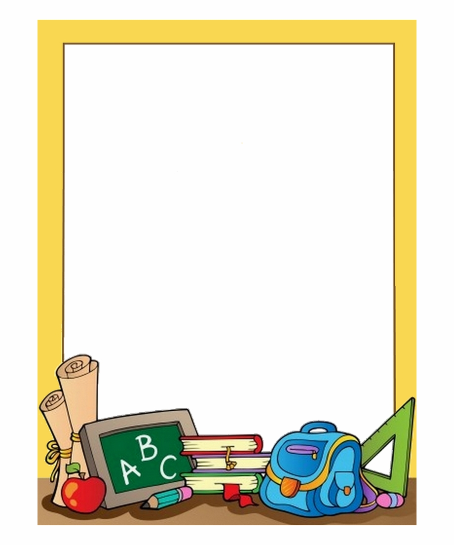 School Border, School Clipart, 1st Day Of School, Paper.