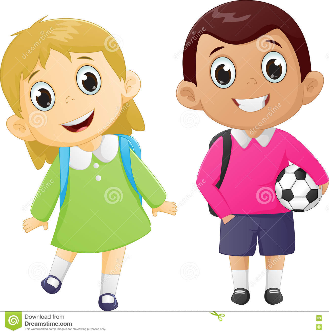 School boy and girl clipart 3 » Clipart Station.