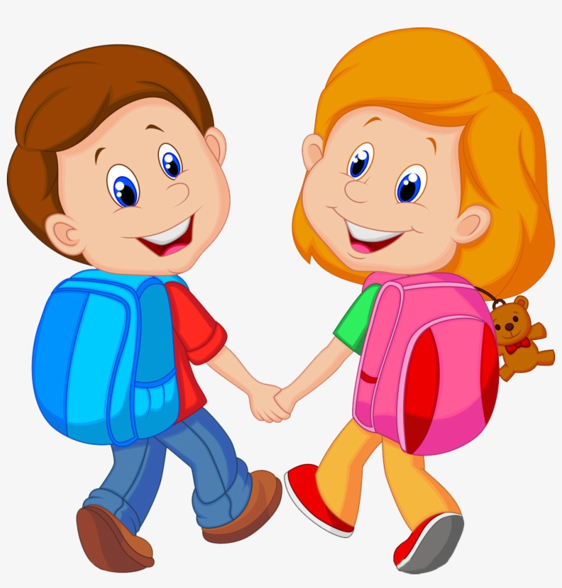 Backpack Child Cartoon Clip Art.