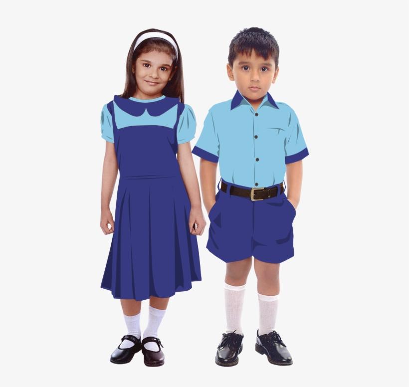 School Boy And Girl.
