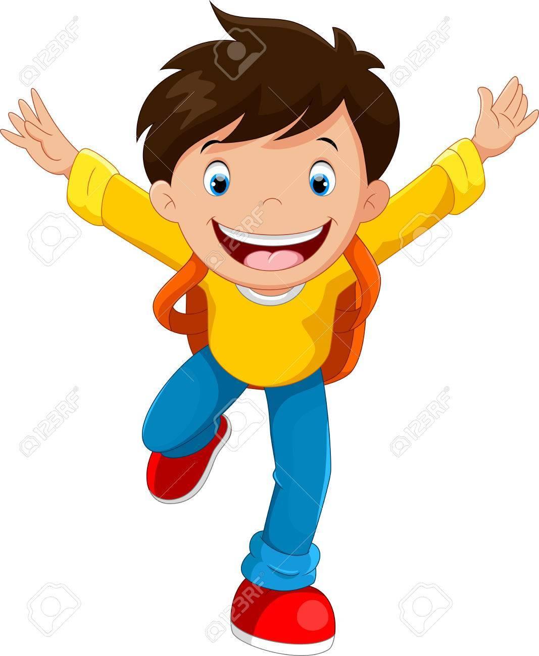 Happy school boy clipart 9 » Clipart Portal.