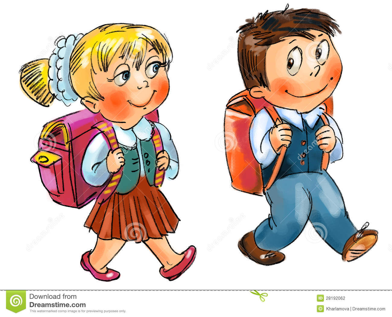 School boy and girl clipart 7 » Clipart Station.