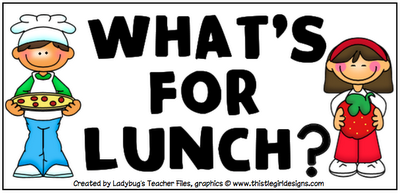 School Lunch And Breakfast Clipart.