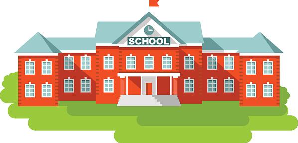 77+ School Building Clipart.