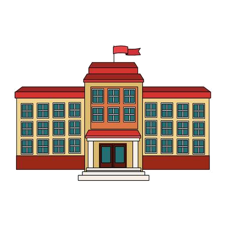 High School Building Cliparts Stock Vector And Royalty Free.