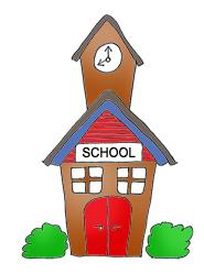 school clipart school building.