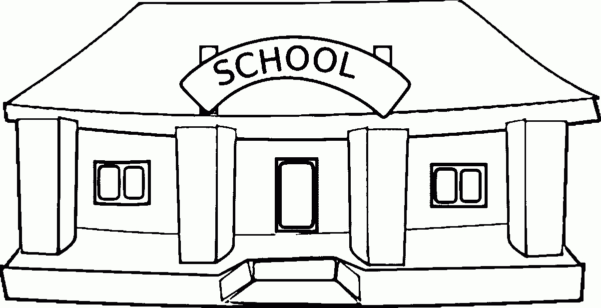 Clipart Black And White School.