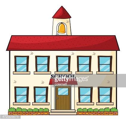 school building Clipart Image.