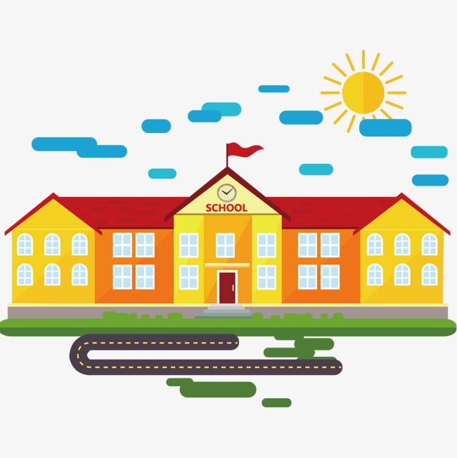 مدرسة بناء ناقلات المواد, المدرسة, بناء, منظر PNG والمتجهات.