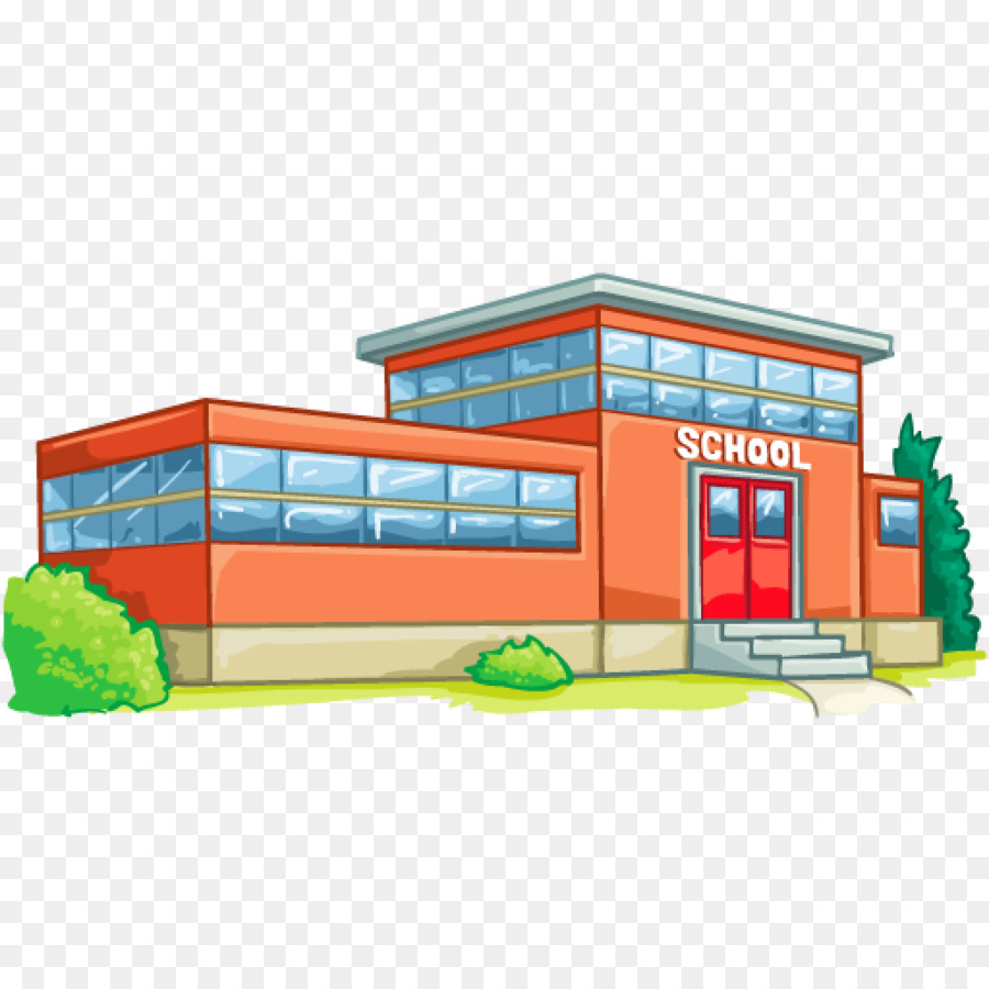 Back To School School Building png download.