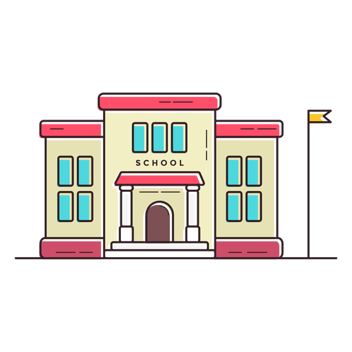 Elementary school building icon.