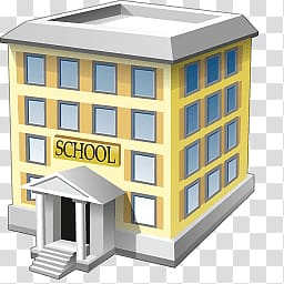 School , School Building transparent background PNG clipart.