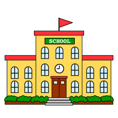 Free Black and White School Building Image|Illustoon.