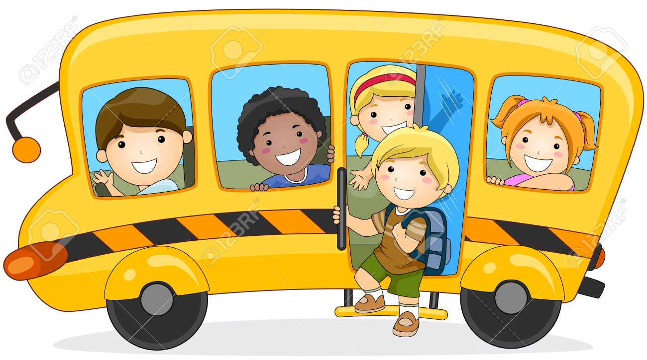 Children Going To School Stock Photo, Picture And Royalty Free.