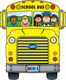 School Bus And House Clipart.