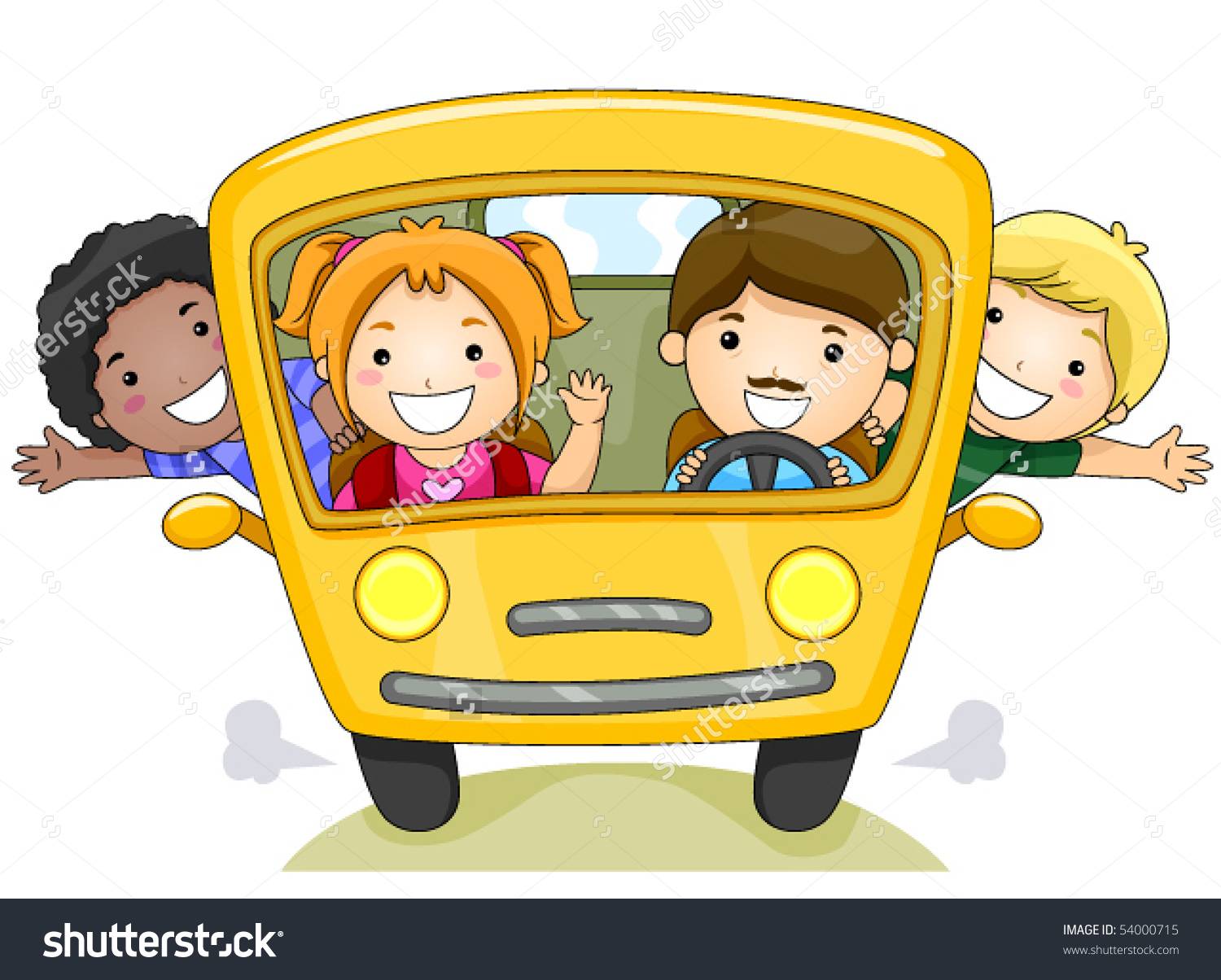 Children School Bus Vector Stock Vector 54000715.