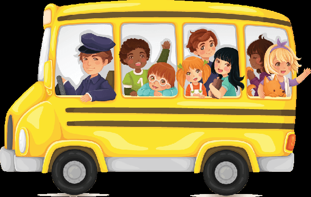 School Bus With Kids Clipart.