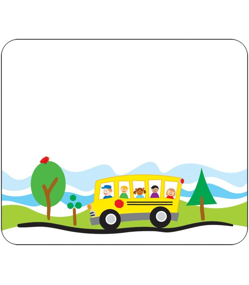 School Bus Name Tags.