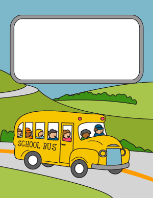School Bus Binder Cover.