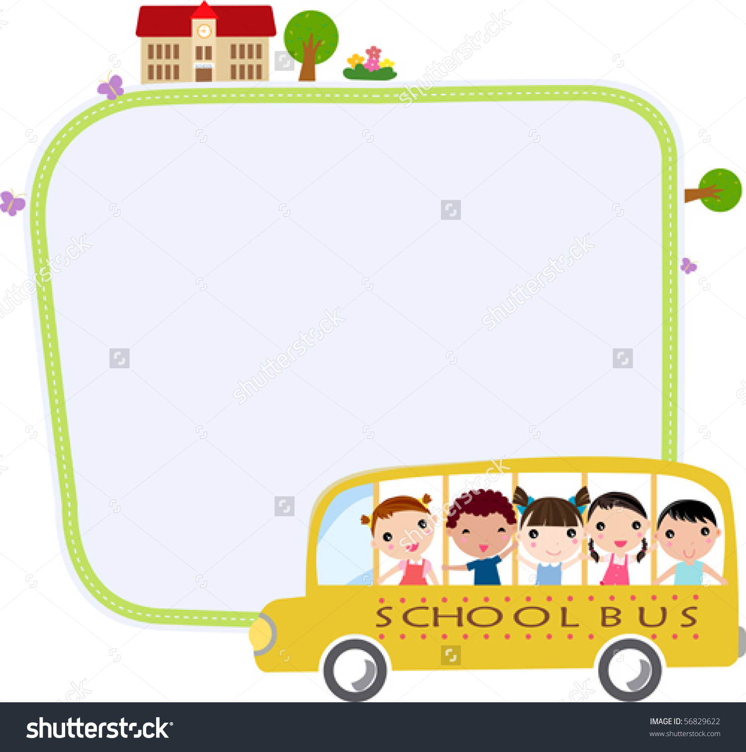 school bus borders clipart clipground Buses Clip Art Black and White School Bus Silhouette