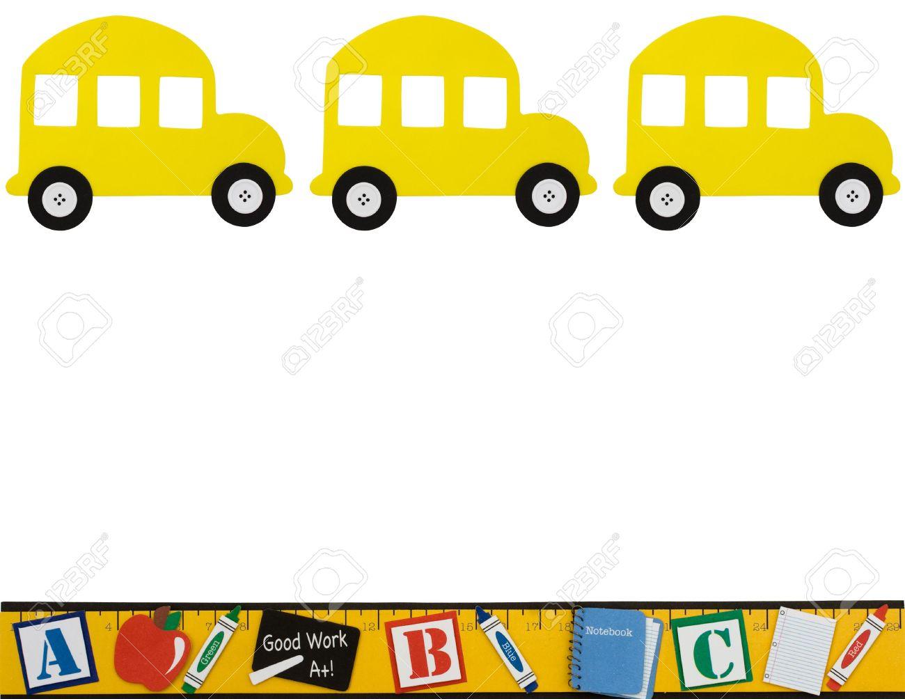 Showing post & media for Cartoon school bus border.