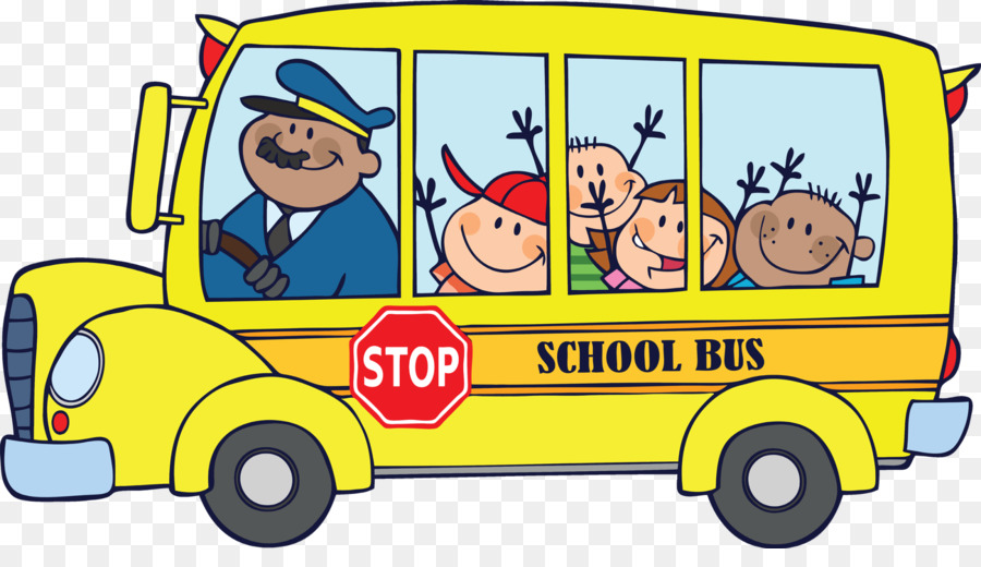 Cartoon School Bus clipart.