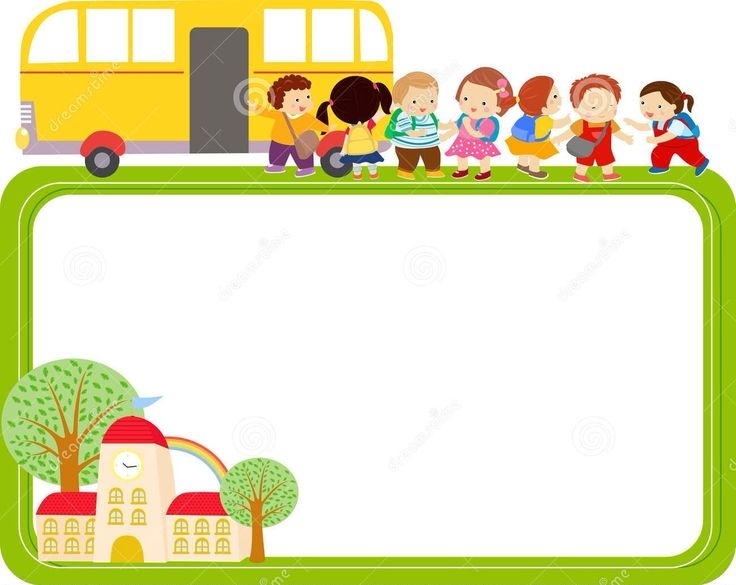School Bus Border.