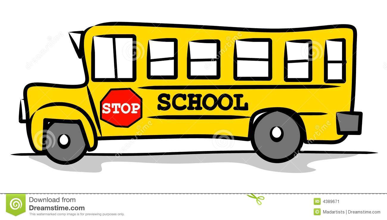 The little school bus book clipart.