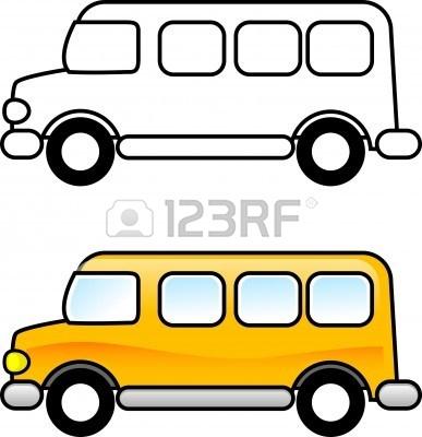 School Bus Clip Art Black And White.