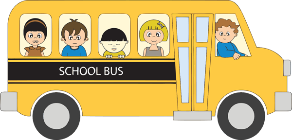 Image result for school bus with children clip art.
