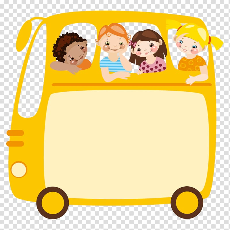 Field trip School Class , school bus transparent background.