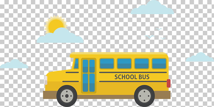 School bus Icon, Sunny school bus PNG clipart.