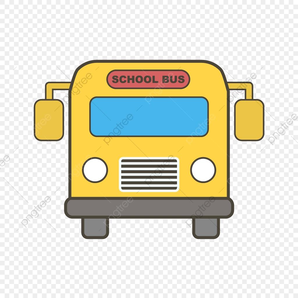 Vector School Bus Icon, School Icon, Bus Icon, Schoolbus.