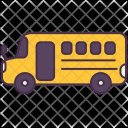 School Bus Icon.