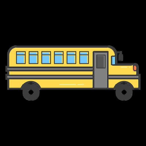 School bus colored stroke icon.