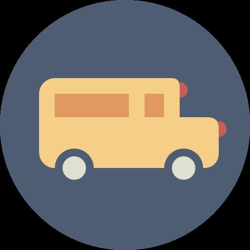 school bus transportation icon.