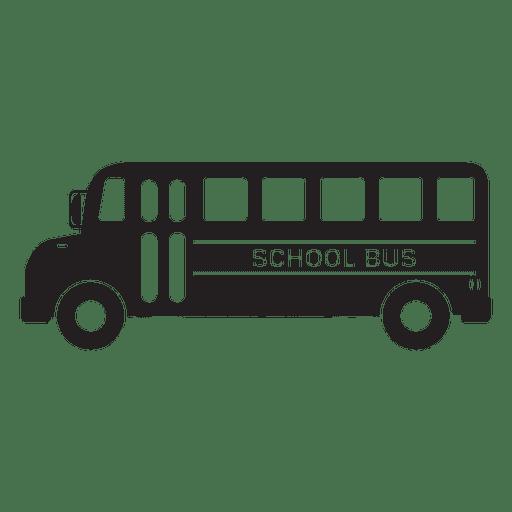 School bus graphic icon.