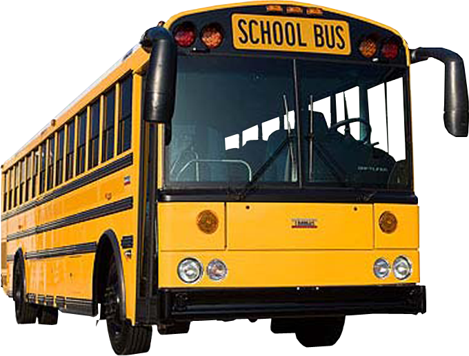 School bus transparent background image.